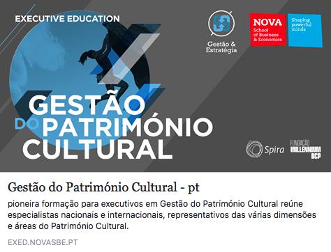 Curso Gestão do Património Cultural em Portugal | Início: 16 de Fevereiro | Lisboa.