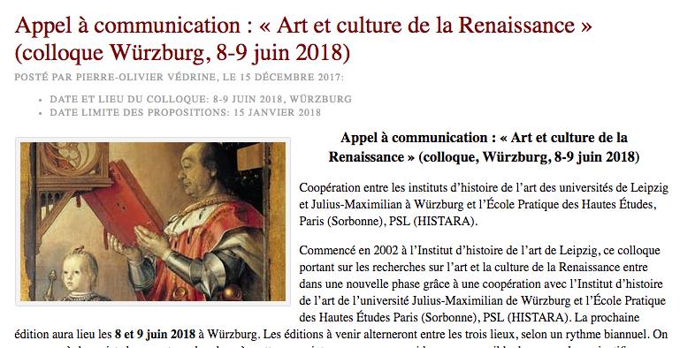 Art etCulture de la Renaissance