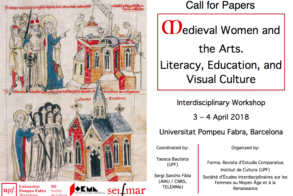 Medieval Women and the Arts. Literacy, Education, and Visual Culture | Data limite: 26 de Fevereiro