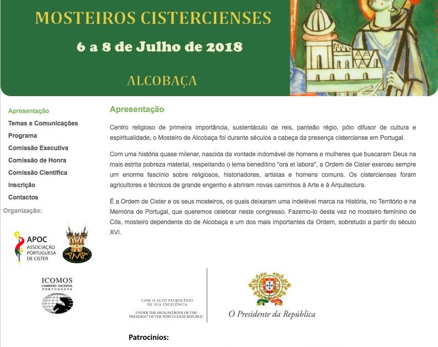 Mosteiros Cistercienses | Data limite: 28 de Fevereiro.