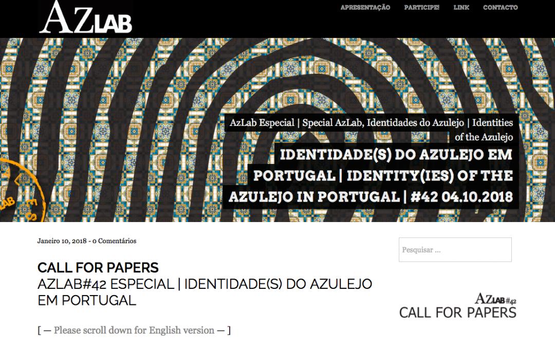 Identidade(s) do Azulejo em Portugal | Data limite: 05 de Março.