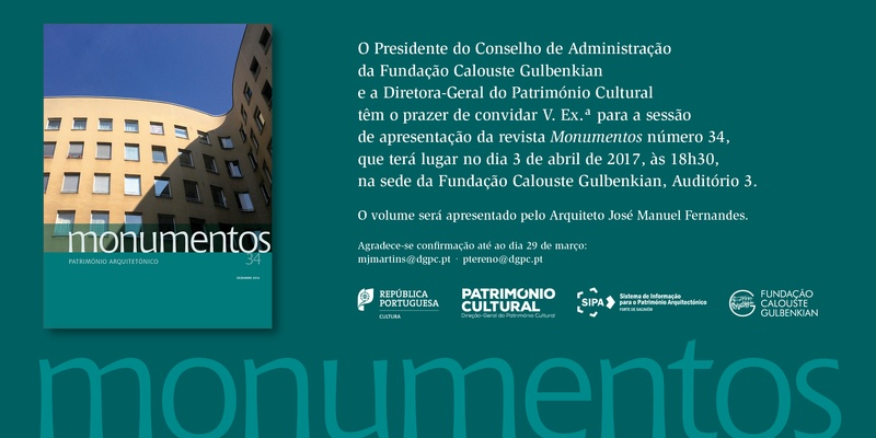"""Apresentação da Revista """"Monumentos"""" n.º 34"""