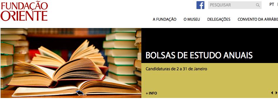 Bolsas de Estudo e Investigação da Fundação Oriente | Data limite: 31 de Janeiro.