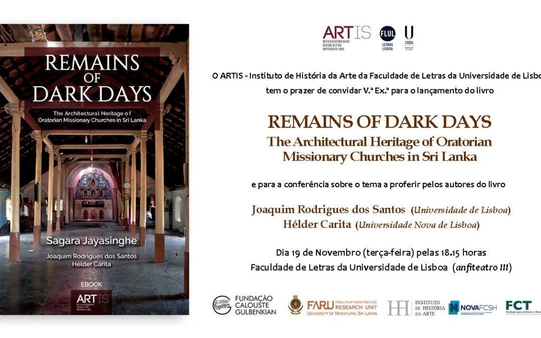 """Lançamento do Livro """"Remains of Dark Days"""""""