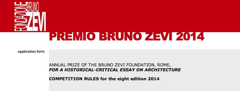 Bruno Zevi Prize 2014