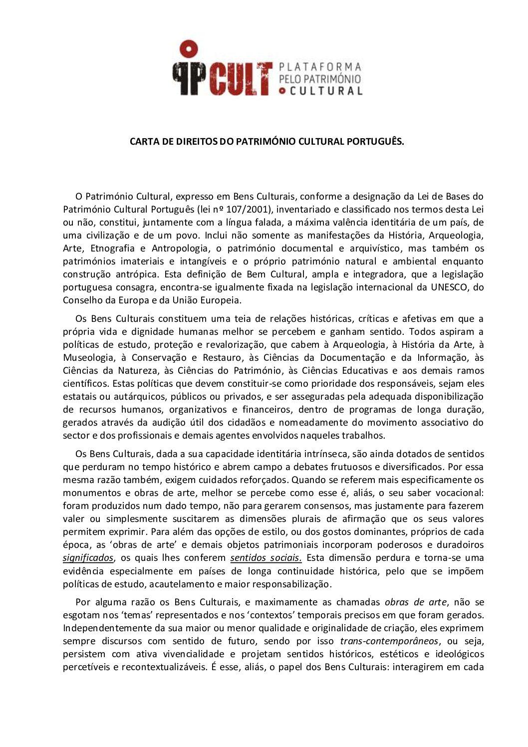 Carta de Direitos do Património Cultural Português