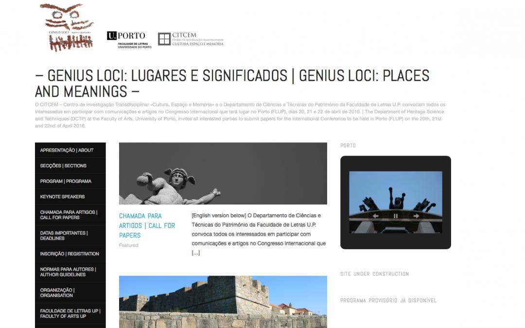 Genius Loci: Lugares e Significados