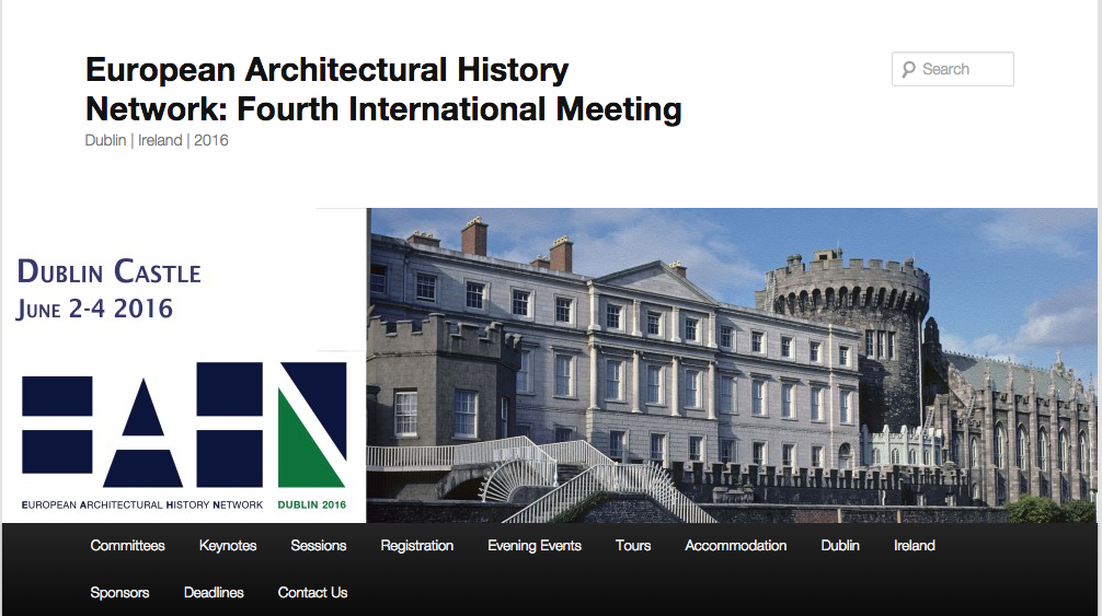 European Architectural History Network Fourth International Meeting