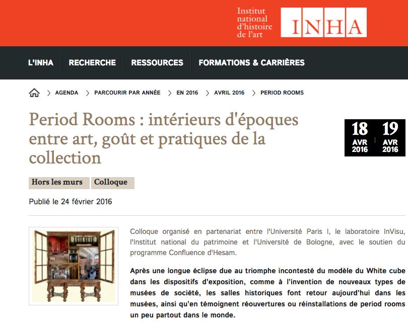 Period Rooms : Intérieurs d'Époque Entre Art, Goût et Pratique de la Collection