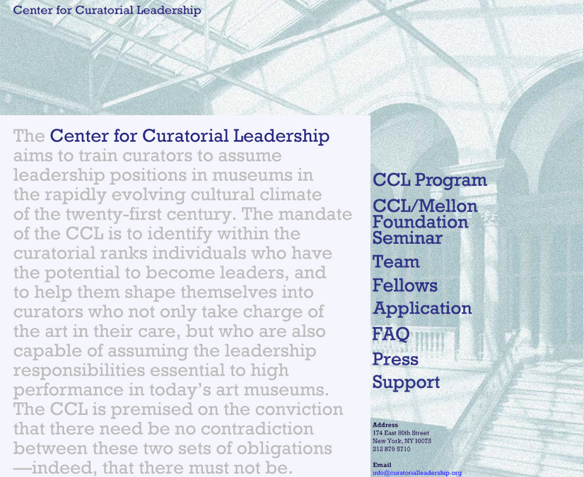 Center for Curatorial Leadership 2015