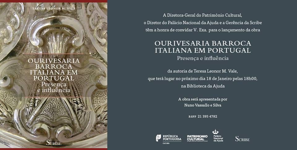 """Lançamento do Livro """"Ourivesaria Barroca Italiana em Portugal: Presença e Influência"""""""