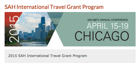 Society of Architectural Historians International Travel Grants 2015