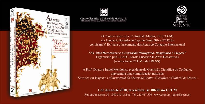 Lançamento das Actas do II Colóquio de Artes Decorativas
